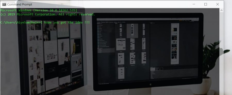 How to change the opacity of the command prompt window