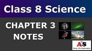 Class 8 Science Chapter 3 Notes