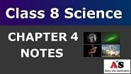 Class 8 Science Chapter 4 Notes