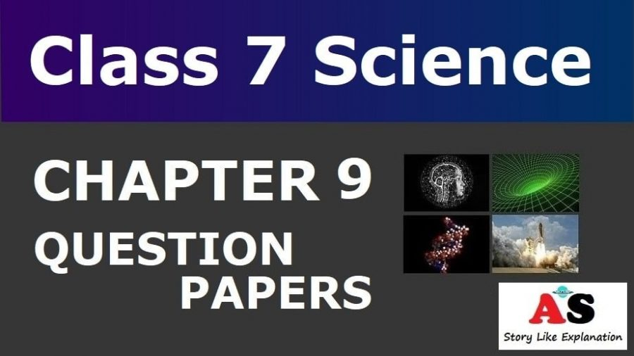 Class 7 Science Chapter 9 Question Papers